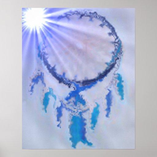 'Resplandor solar Blue Póster