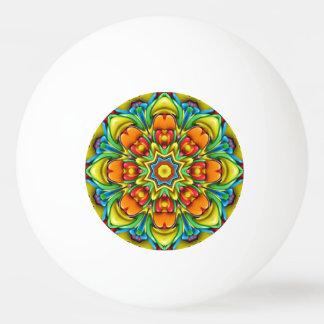 Resplandor solar colorido pelota de ping pong