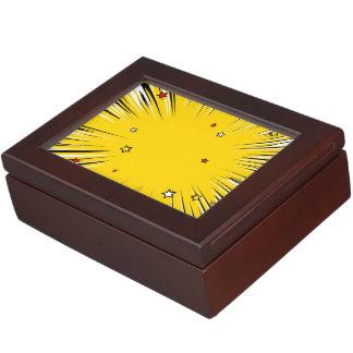 Resplandor solar cómico del amarillo del estilo cajas de recuerdos