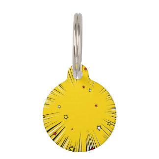 Resplandor solar cómico del amarillo del estilo identificador para mascotas