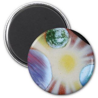 Resplandor solar con la pintura de aerosol de los  iman