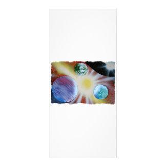Resplandor solar con la pintura de aerosol de los  tarjeta publicitaria a todo color