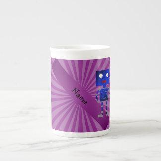 Resplandor solar conocido personalizado de la púrp taza de china