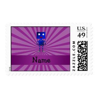 Resplandor solar conocido personalizado de la timbre postal