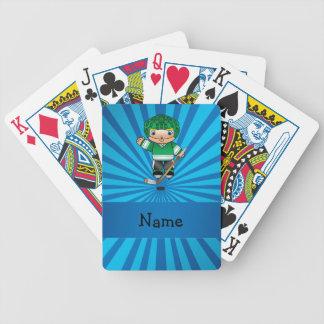 Resplandor solar conocido personalizado del azul d cartas de juego