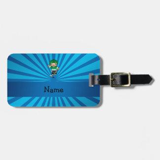 Resplandor solar conocido personalizado del azul d etiquetas de maletas