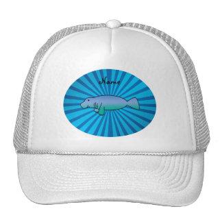 Resplandor solar conocido personalizado del azul gorra