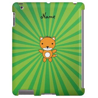 Resplandor solar conocido personalizado del verde funda para iPad
