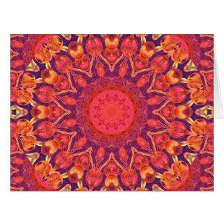 Resplandor solar, danza abstracta del círculo de tarjeta de felicitación grande