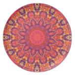 Resplandor solar, danza del círculo de la estrella plato de cena