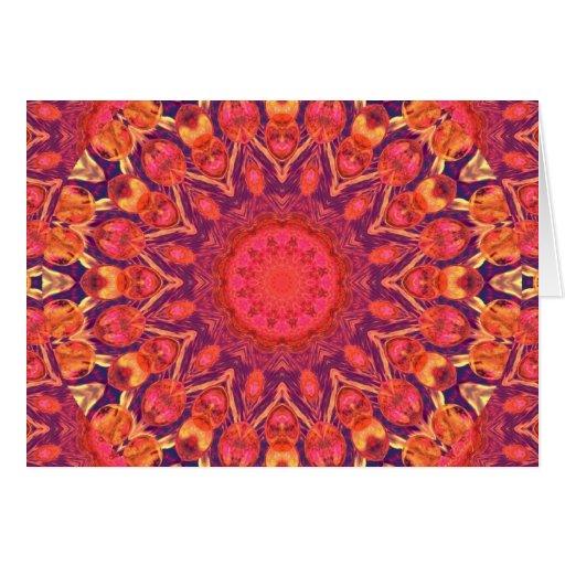 Resplandor solar, danza del círculo de la estrella tarjeta de felicitación