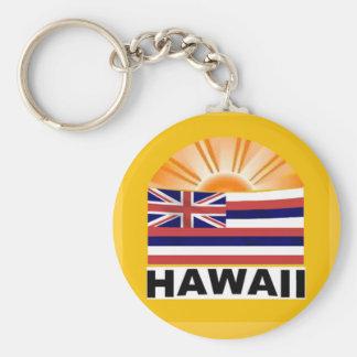 Resplandor solar de Hawaii Llavero Redondo Tipo Pin