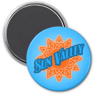 Resplandor solar de Sun Valley Imán Redondo 7 Cm