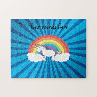 Resplandor solar del azul del unicornio del arco puzzles