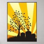 Resplandor solar del cementerio posters