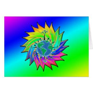 Resplandor solar del ~ del Día de la Tierra Tarjeta De Felicitación