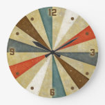 Resplandor solar del Grunge del vintage Relojes De Pared