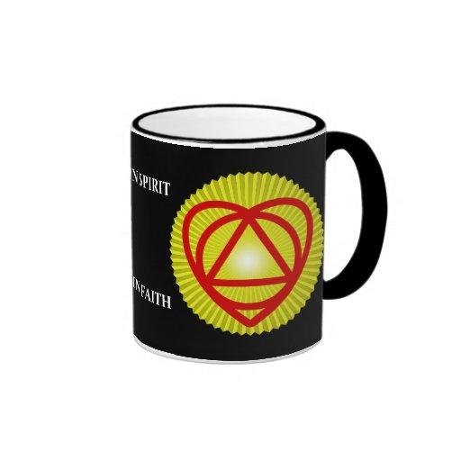 resplandor solar del logotipo del unitheist tazas de café