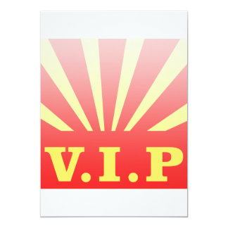 """Resplandor solar del VIP Invitación 5"""" X 7"""""""