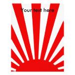 Resplandor solar japonés rojo plantillas de membrete
