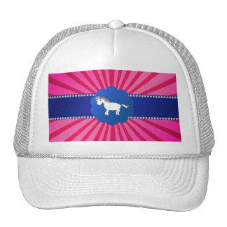 Resplandor solar lindo del rosa del unicornio gorro