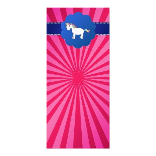 Resplandor solar lindo del rosa del unicornio tarjetas publicitarias personalizadas