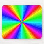 Resplandor solar psicodélico Mousepad del arco iri Alfombrillas De Ratón