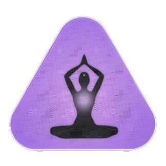 Resplandor solar púrpura de la meditación del zen altavoz