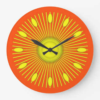 Resplandor solar reloj redondo grande