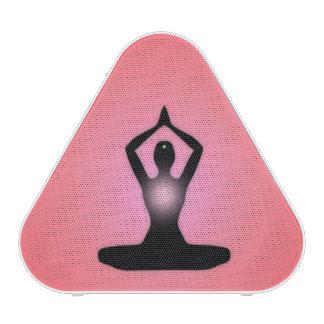 Resplandor solar rojo de la meditación del zen altavoz