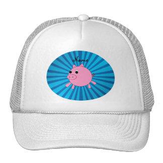 Resplandor solar rosado conocido personalizado del gorra