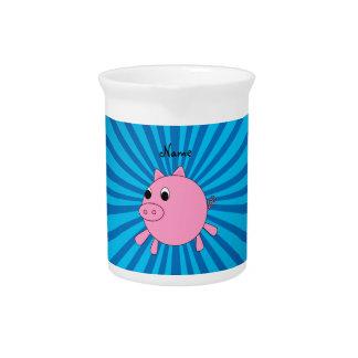 Resplandor solar rosado conocido personalizado del jarras de beber