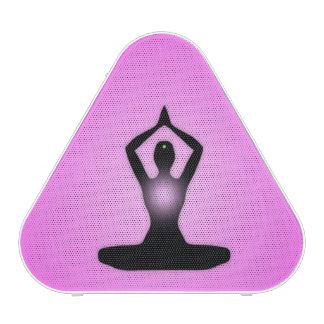 Resplandor solar rosado de la meditación del zen altavoz
