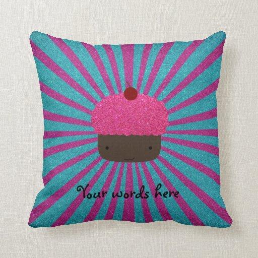 Resplandor solar rosado lindo del brillo de la mag almohadas