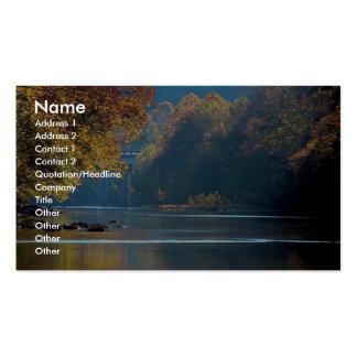 Resplandor solar sobre el río del remache, sudoest tarjetas de negocios