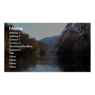 Resplandor solar sobre el río del remache, sudoest tarjetas de visita