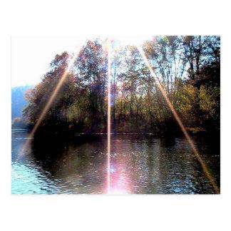 Resplandor solar sobre el río del remache, sudoest tarjetas postales