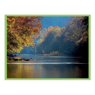 Resplandor solar sobre el río del remache, sudoest tarjeta postal