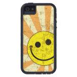 Resplandor solar sonriente sucio retro iPhone 5 cobertura