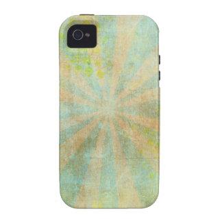 Resplandor solar sucio del verde azul iPhone 4/4S carcasas