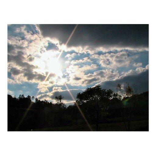 Resplandor solar tarjeta postal