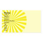 Resplandor solar tarjetas de visita