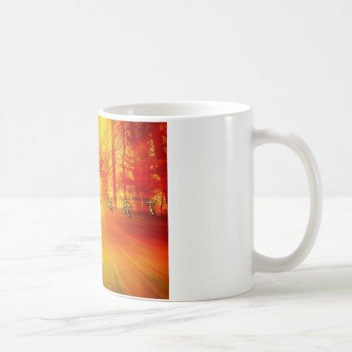 Resplandor solar taza de café