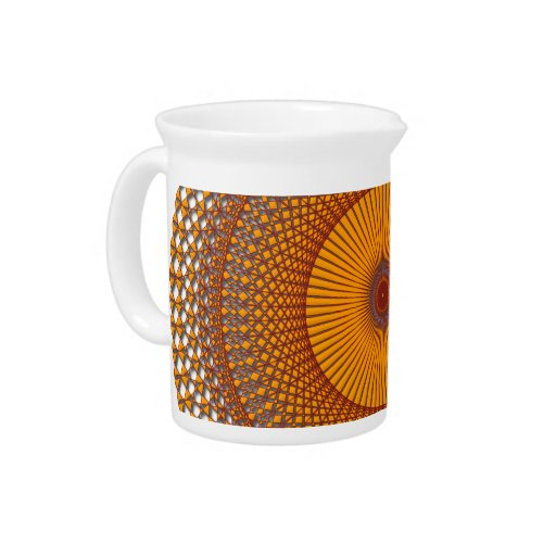 Resplandor solar tejido jarras de beber