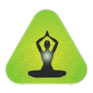 Resplandor solar verde de la meditación del zen altavoz