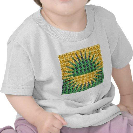 Resplandor solar - verde y amarillo camiseta