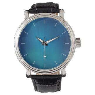 Resplandor subacuático azul profundo relojes de mano