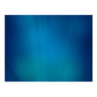 Resplandor subacuático azul profundo tarjetas postales