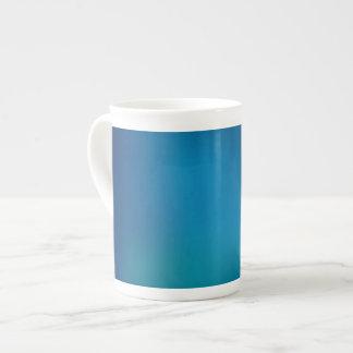 Resplandor subacuático azul profundo taza de porcelana