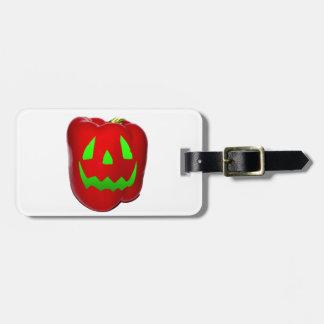 Resplandor verde Bell roja Peppolantern Etiquetas De Equipaje